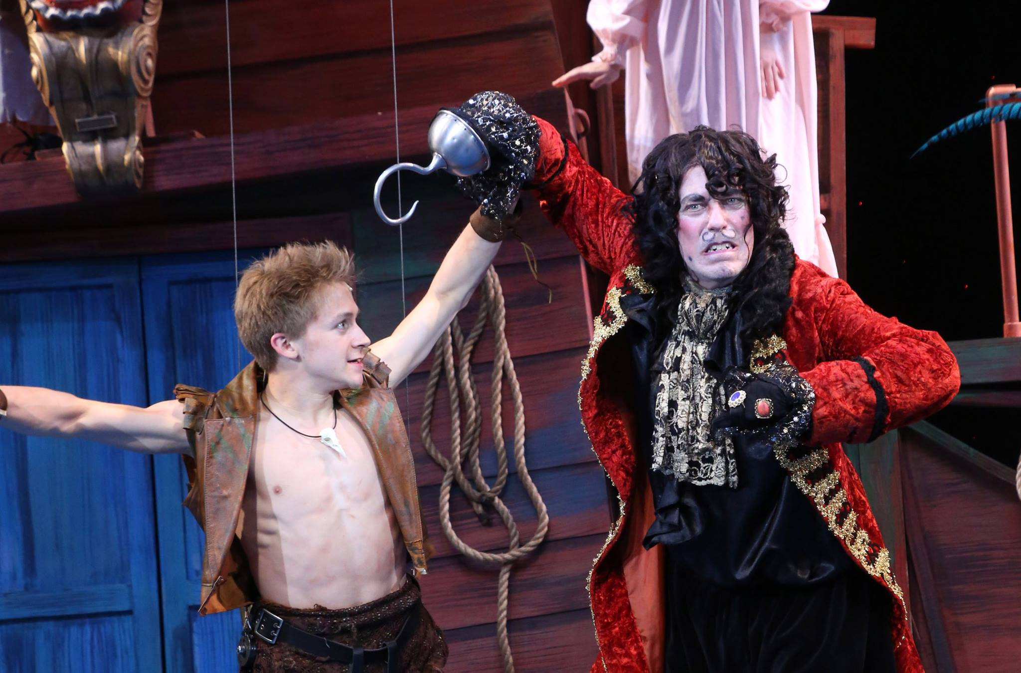 Terrence Mann and Riley Costello in  Peter Pan The Musical.