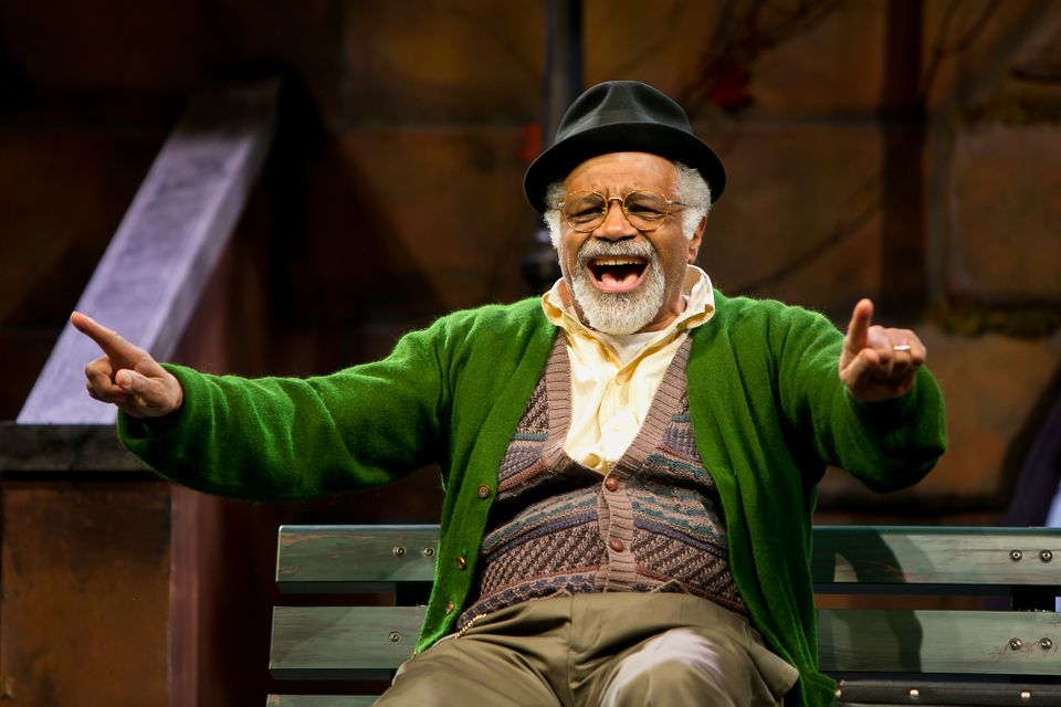 "Ted Lange as Midge Carter in ""I'm Not Rappaport"" at Redhouse Arts Center in Syracuse. Photo courtesy of Genevieve Fridley."