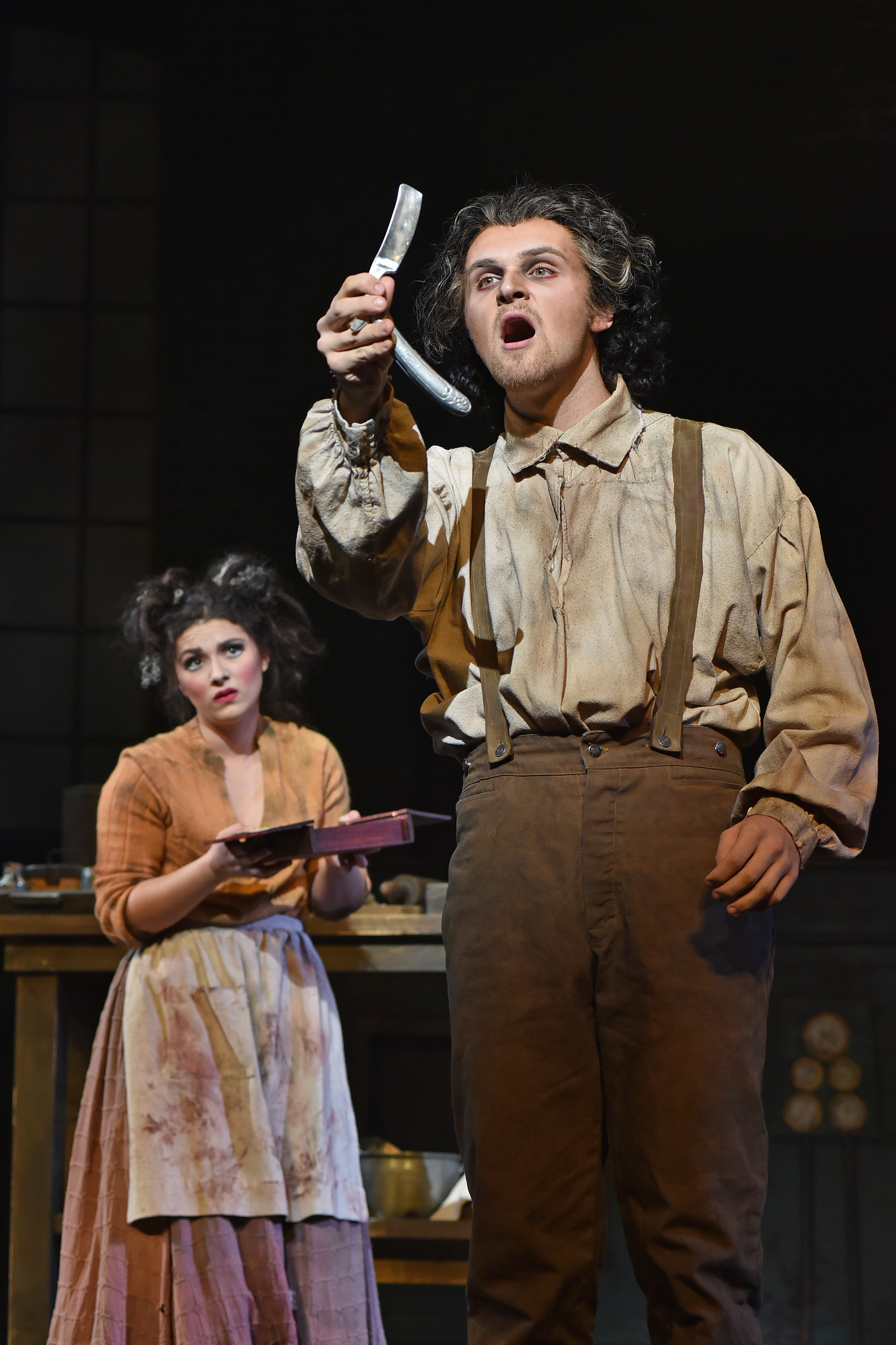Sweeney Todd with music and lyrics by Stephen Sondheim and book by Hugh Wheeler at the Power Center, University of Michigan.  Photos by Peter Smith