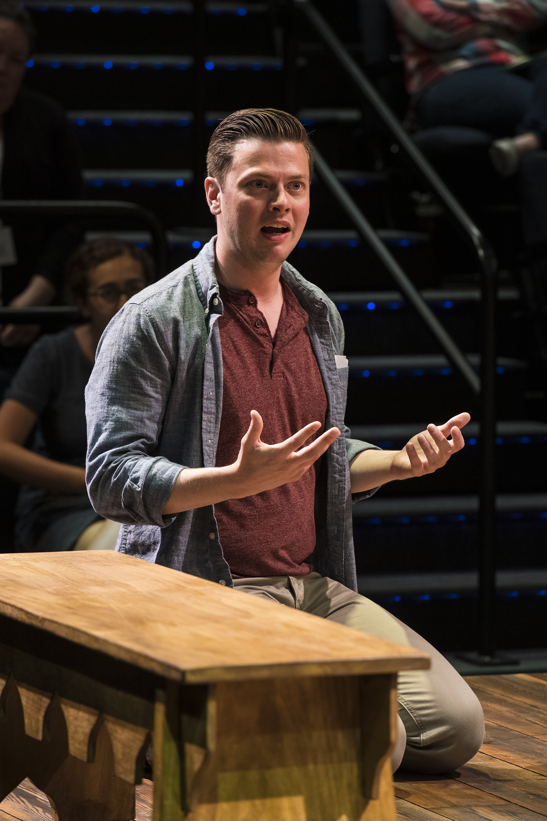 Michael Doherty in the Utah Shakespeare Festival's 2019 production of Every Brilliant Thing. (Photo by Karl Hugh. Copyright Utah Shakespeare Festival 2019.)