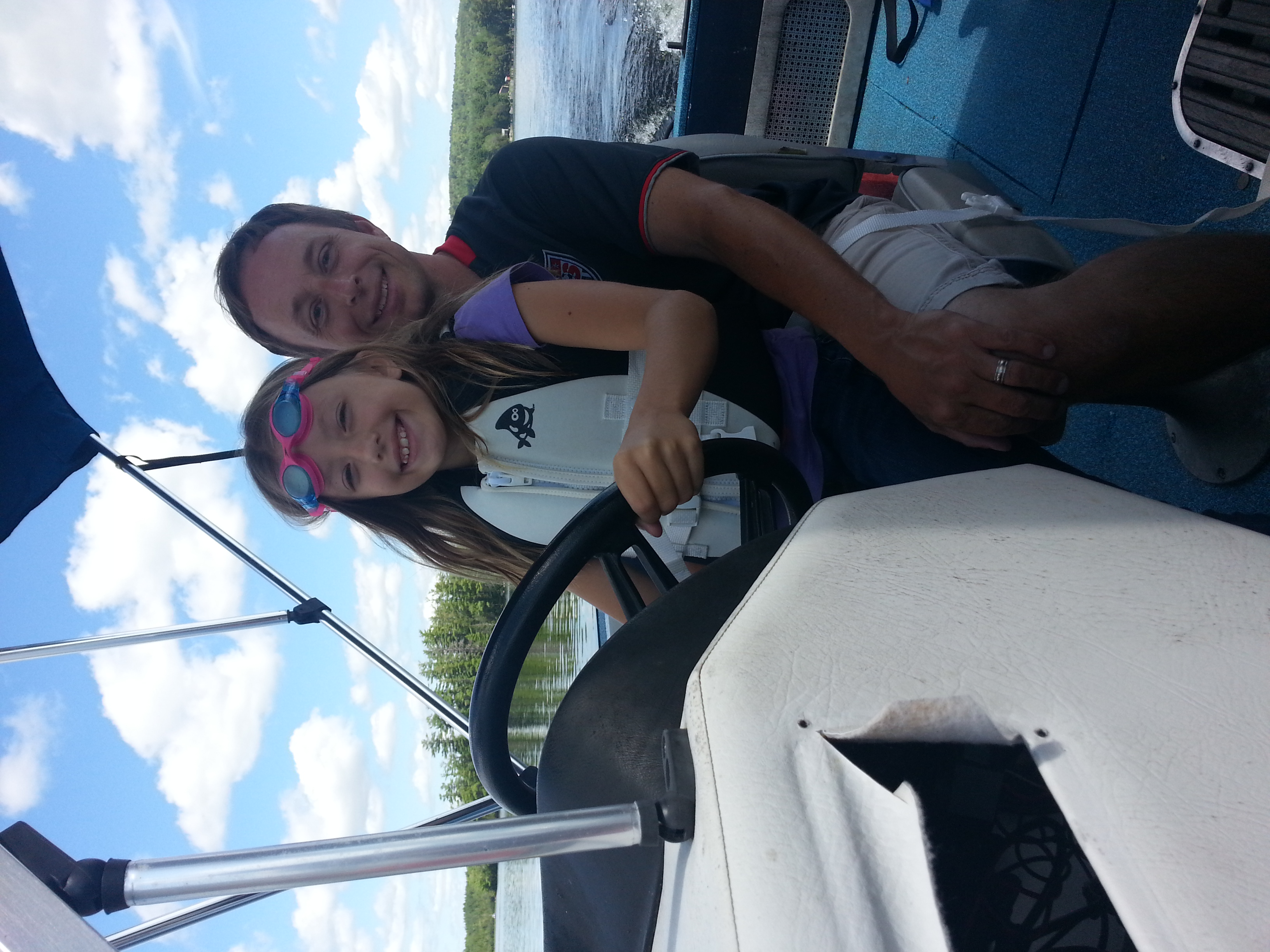 For this journey, we didn't even leave our lake, just went to another part of it. Petunia did a great job as captain.