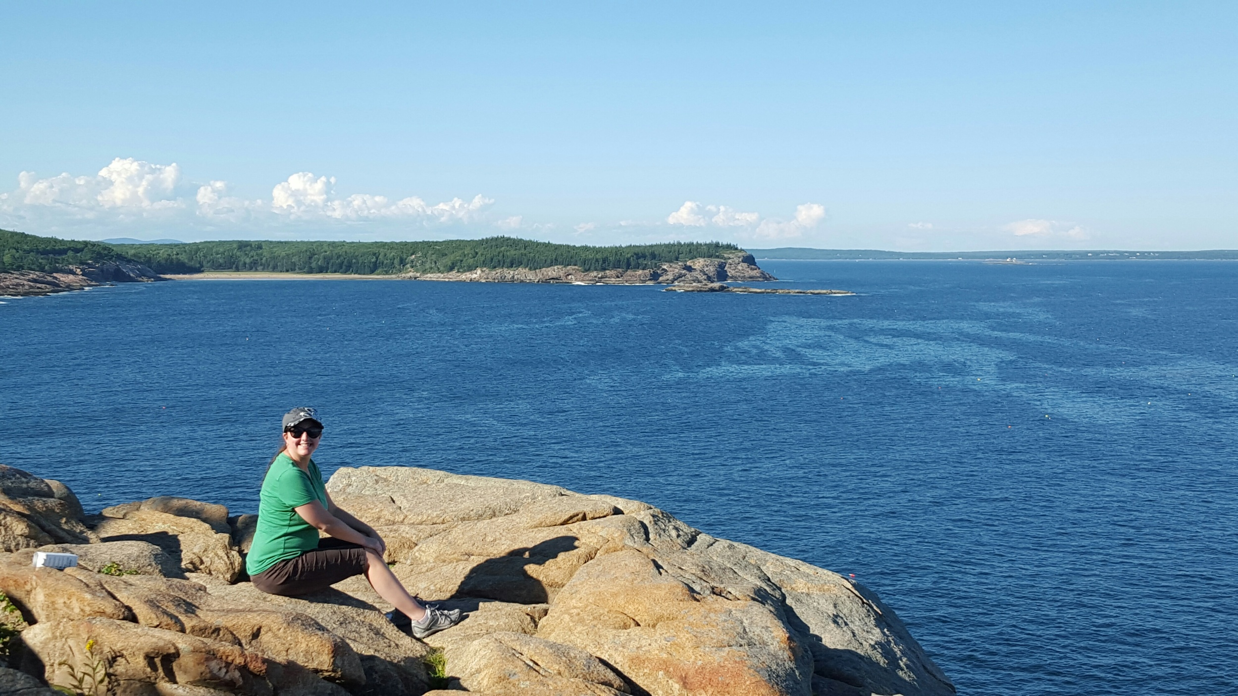 Here is the rewarding view from atop Otter Cliff!