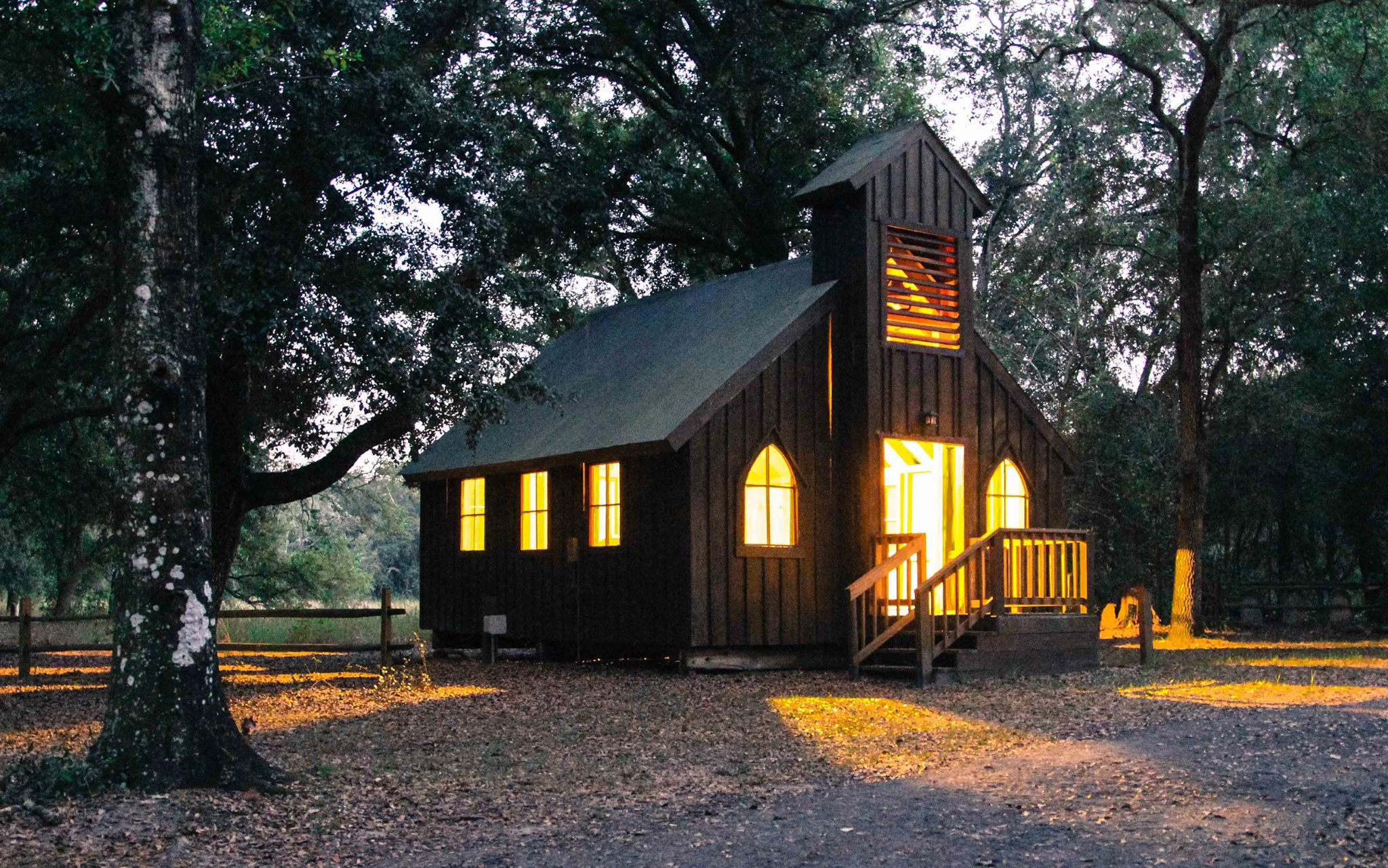 With no doors to close, this little chapel in the woods welcomed all.