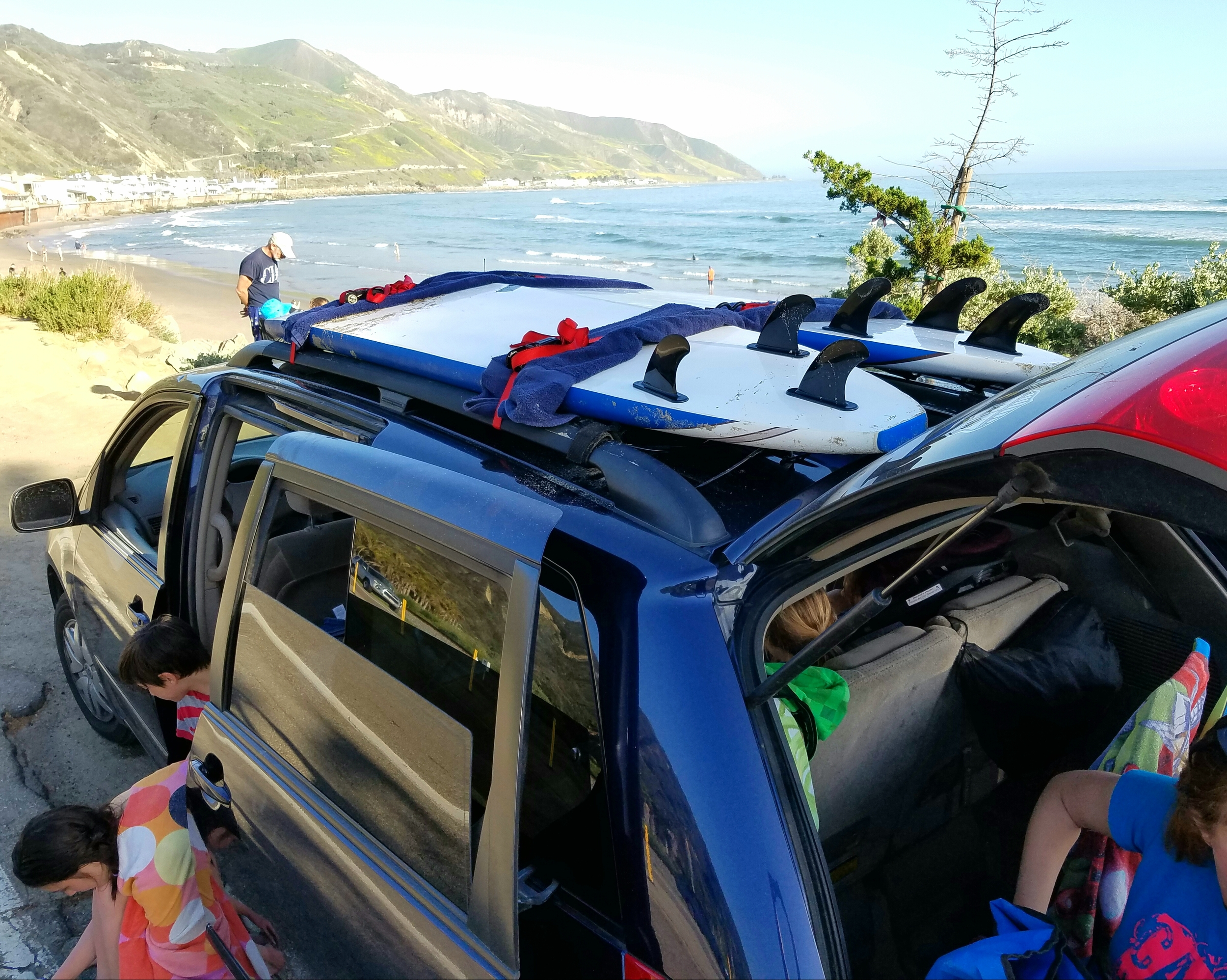 Surfboard-toting, beach-going minivans are cool.