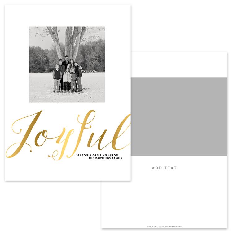 JOYFUL SCRIPT with gold foil