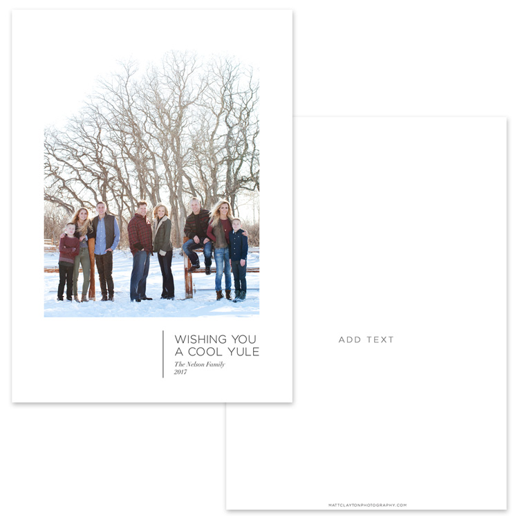YULE WISHES - WHITE