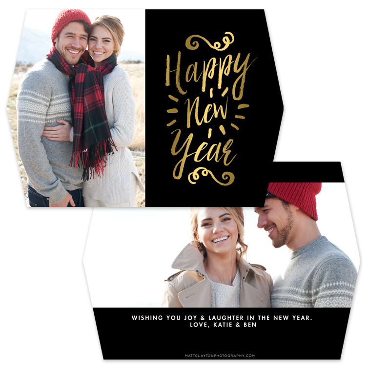 GOLD NEW YEAR with gold foil