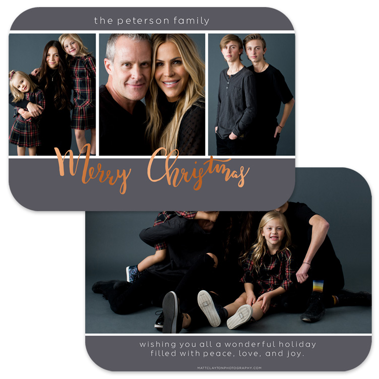 MERRY MOMENTS - WINTER GREY with rose gold foil