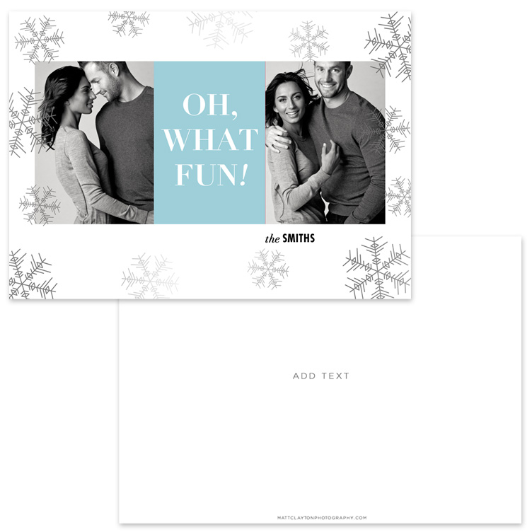 SILVER & SNOW - WINTER BLUE with silver foil