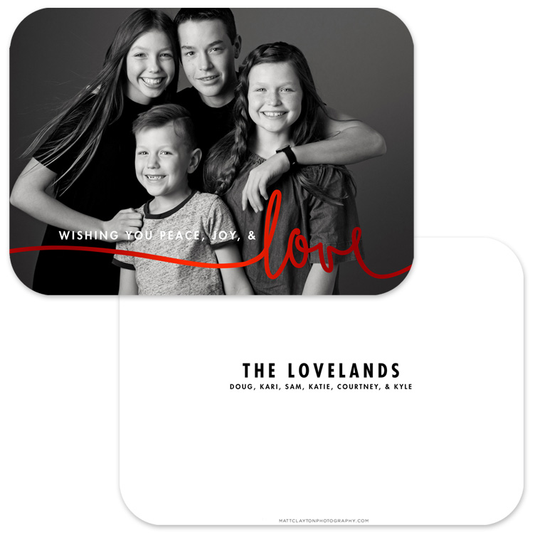 LOVE SCRIPT with red foil