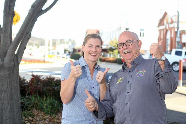 Jane Kerridge and Greg Thouard are excited about funding for the 2018 Apple and Grape festival.