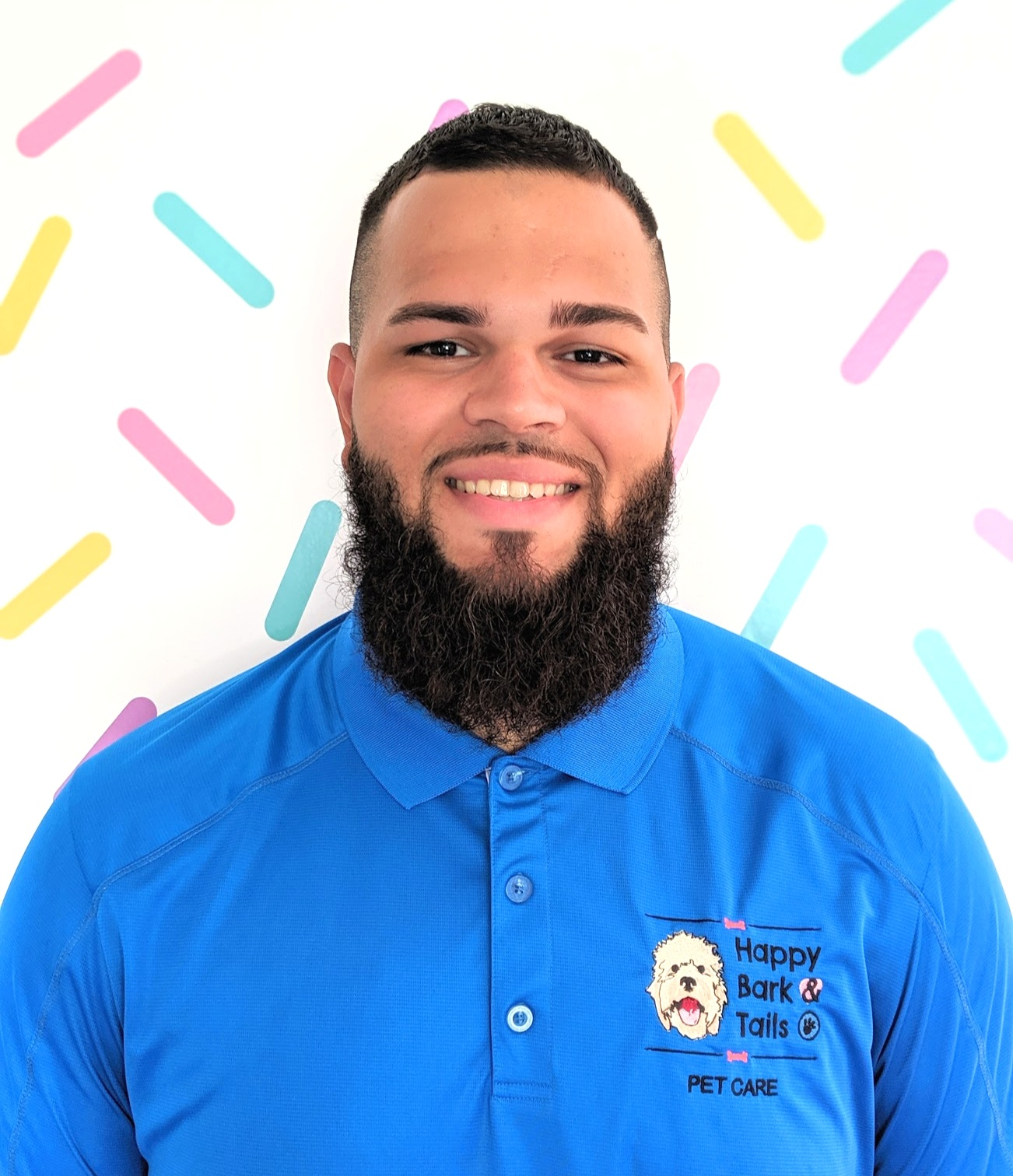 Juan(pet care specialist) - Passionate about all things dogs, Juan is a Brooklyn, NY native. There he volunteered at many different shelters helping on daily walks for the unadopted dogs.Juan proudly joined his sister Madeline at Happy Bark & Tails full-time in 2018. At HBT he is a trusted dog walker, attentive sitter and is also behind the scene for all creative projects. Juan is PAWSOME!