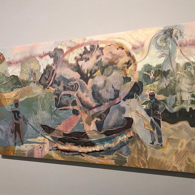 I love the amazing use of color and texture of his work.  #michaelarmitage #mca #inspiration