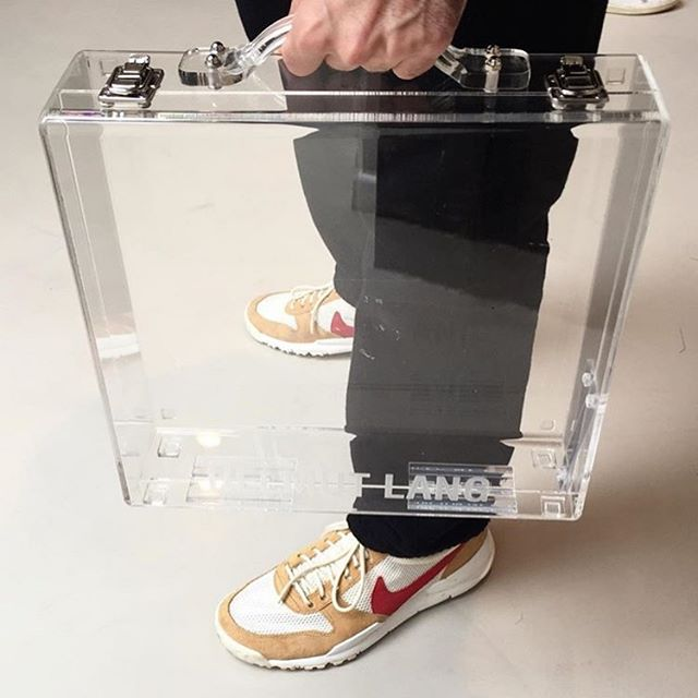 #clearbag  #clear #briefcase just in #case by #helmutlang x #voostore