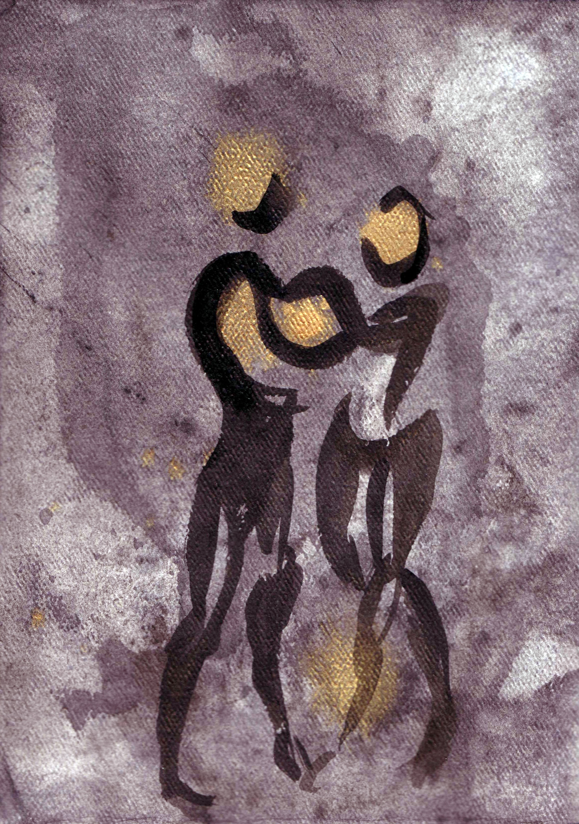Union ,acrylic and India ink, 2005 private collection