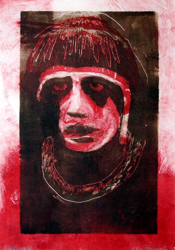 Aborigine , monoprint, 2001