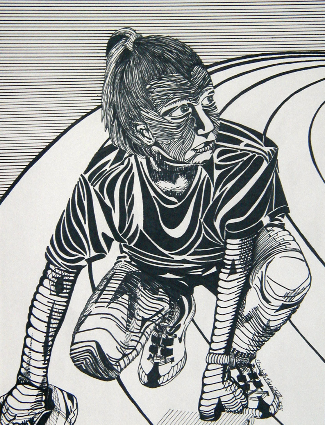 After the Hunt ,Sharpie marker,2003 private collection