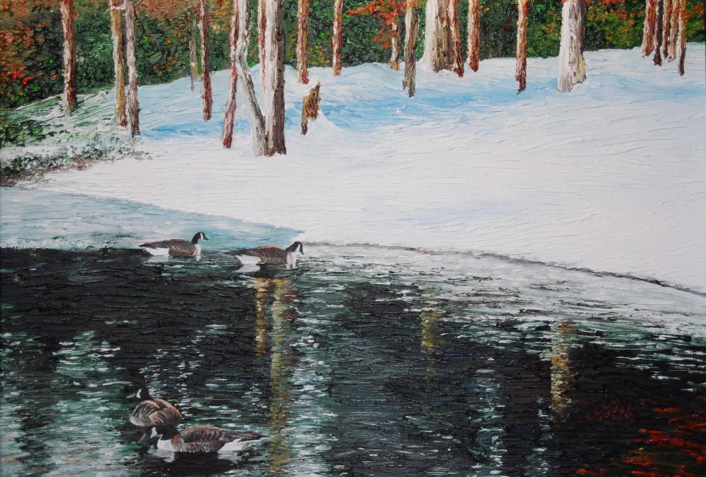Burke Lake , oil on canvas board, 2003 public collection