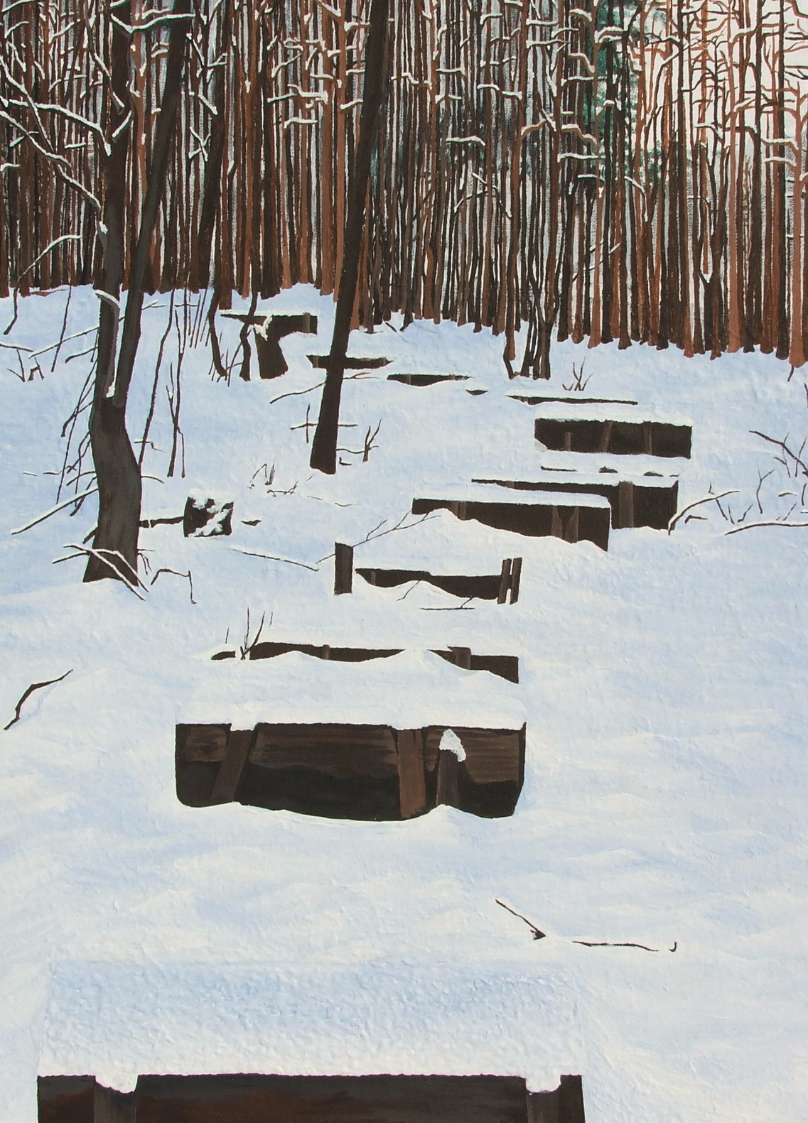 Path , acrylic on canvas board, 18X24 private collection