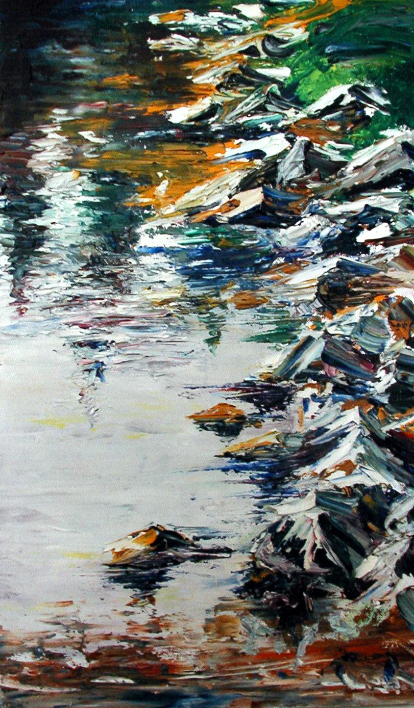 Mountain Lake , oil on canvas public collection