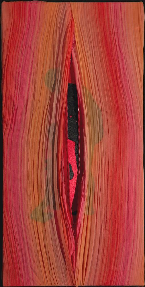 Unzipped , fabric, 2007
