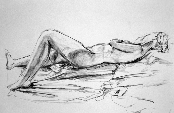untitled (nude study), charcoal on paper, 2004