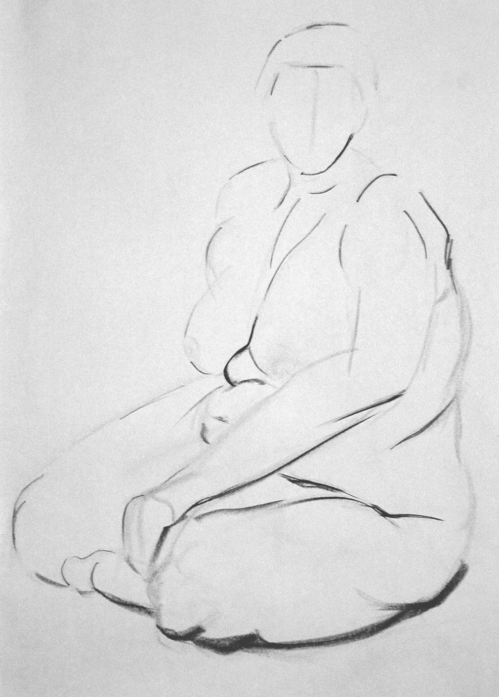 untitled (nude study), charcoal,2004