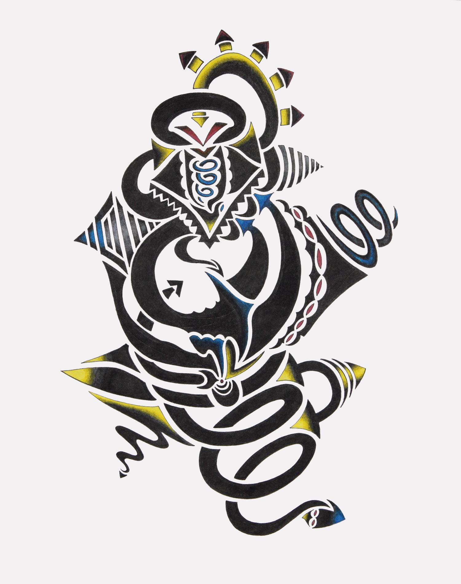 doodle #40, 13.25X11, 2015