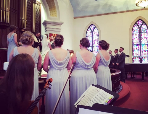 AVIVA Strings provided an extra element of elegance and beauty to our daughters wedding day. They sounded fantastic both at the church and the cocktail hour. I would highly recommend AVIVA Strings for any occasion. I think the price charged was well worth it. The trio was very professional and gifted.    Beth A.,  Daughter    Married May 2016 at  Central United Methodist Church , Honesdale, PA and  The Settlers Inn , Hawley, PA
