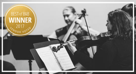 AVIVA Strings is a Best of Borrowed & Blue Philadelphia Gold Medal winner for 2017!