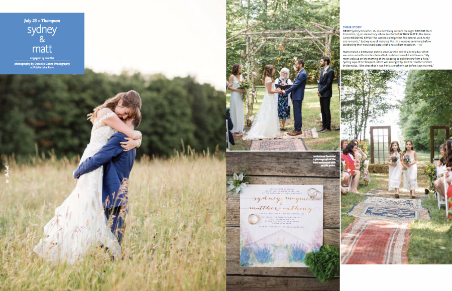AVIVA Strings is so excited to be featured in The Knot magazine! We loved being part of this incredible, rustic, elegant Pennsylvania wedding!