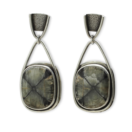 Chiastolite Earrings