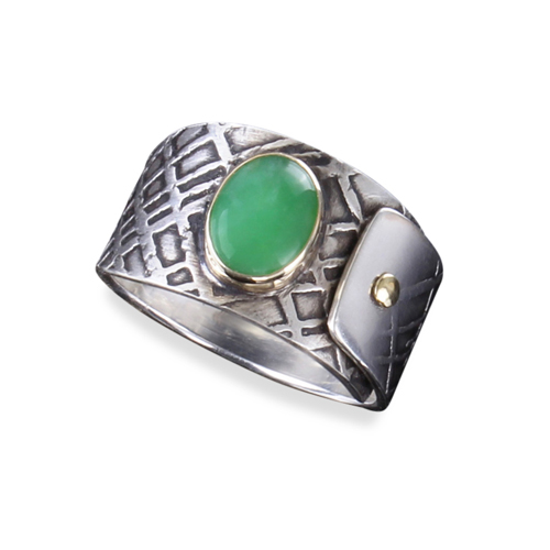 Jade Riveted Ring