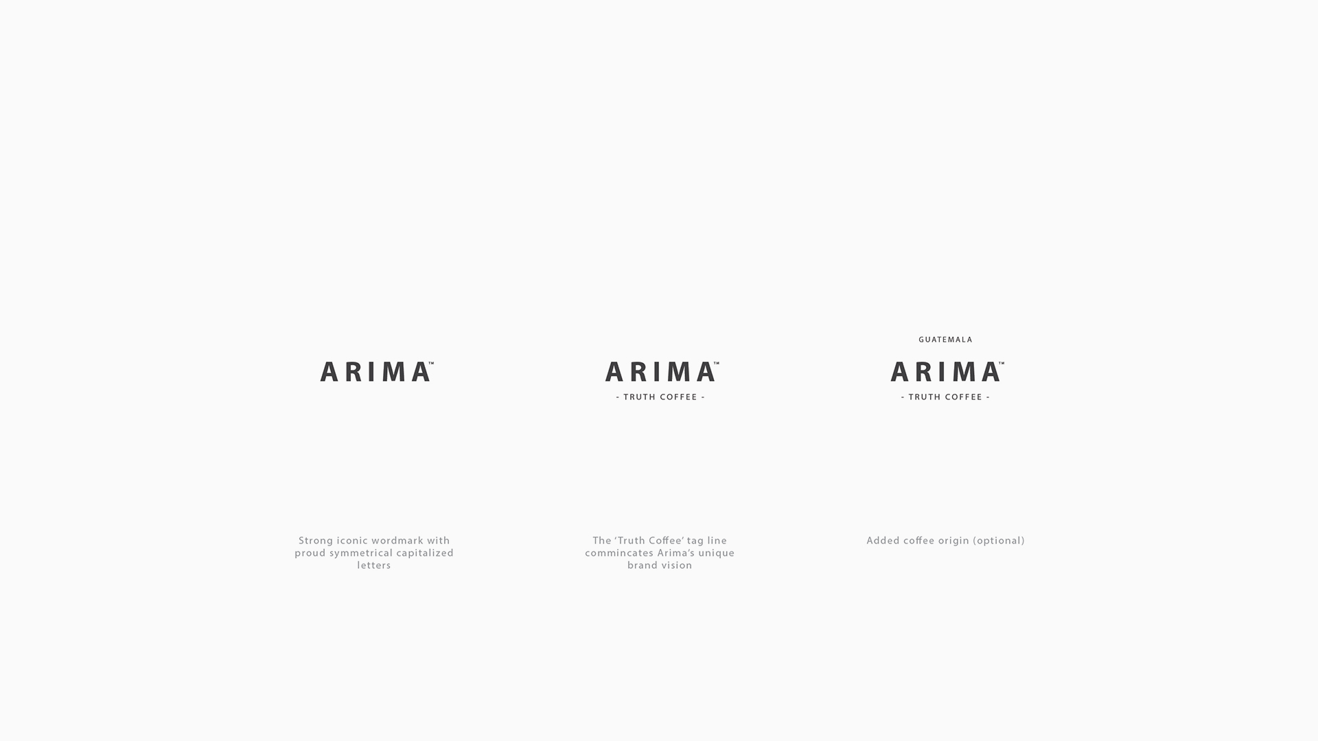 Wordmark / A strong symmetrical font with clear capitals to express reliability and quality.