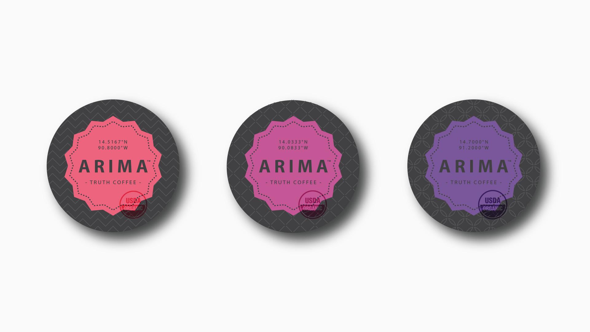 Arima / Packaging design line-up.