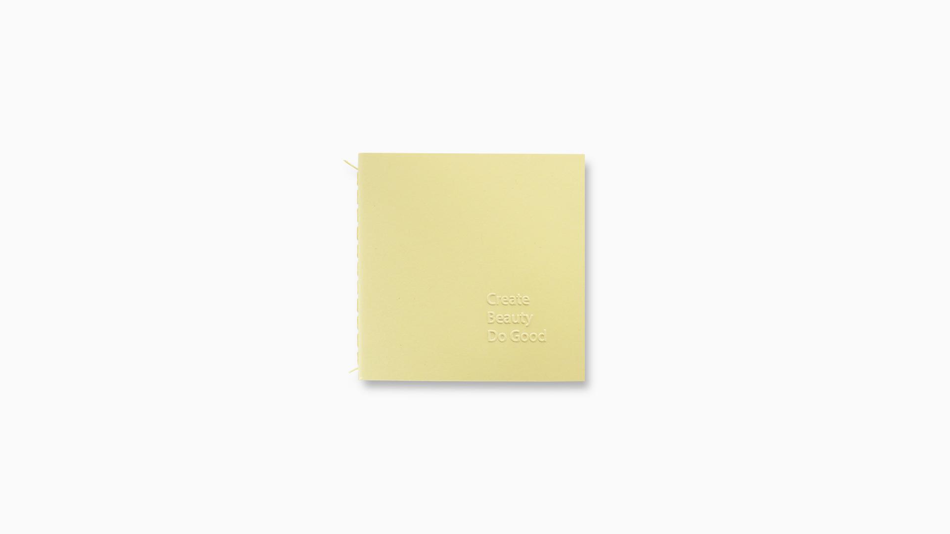 BOEKJE  / Cover with Create Beauty Do Good letterpress.