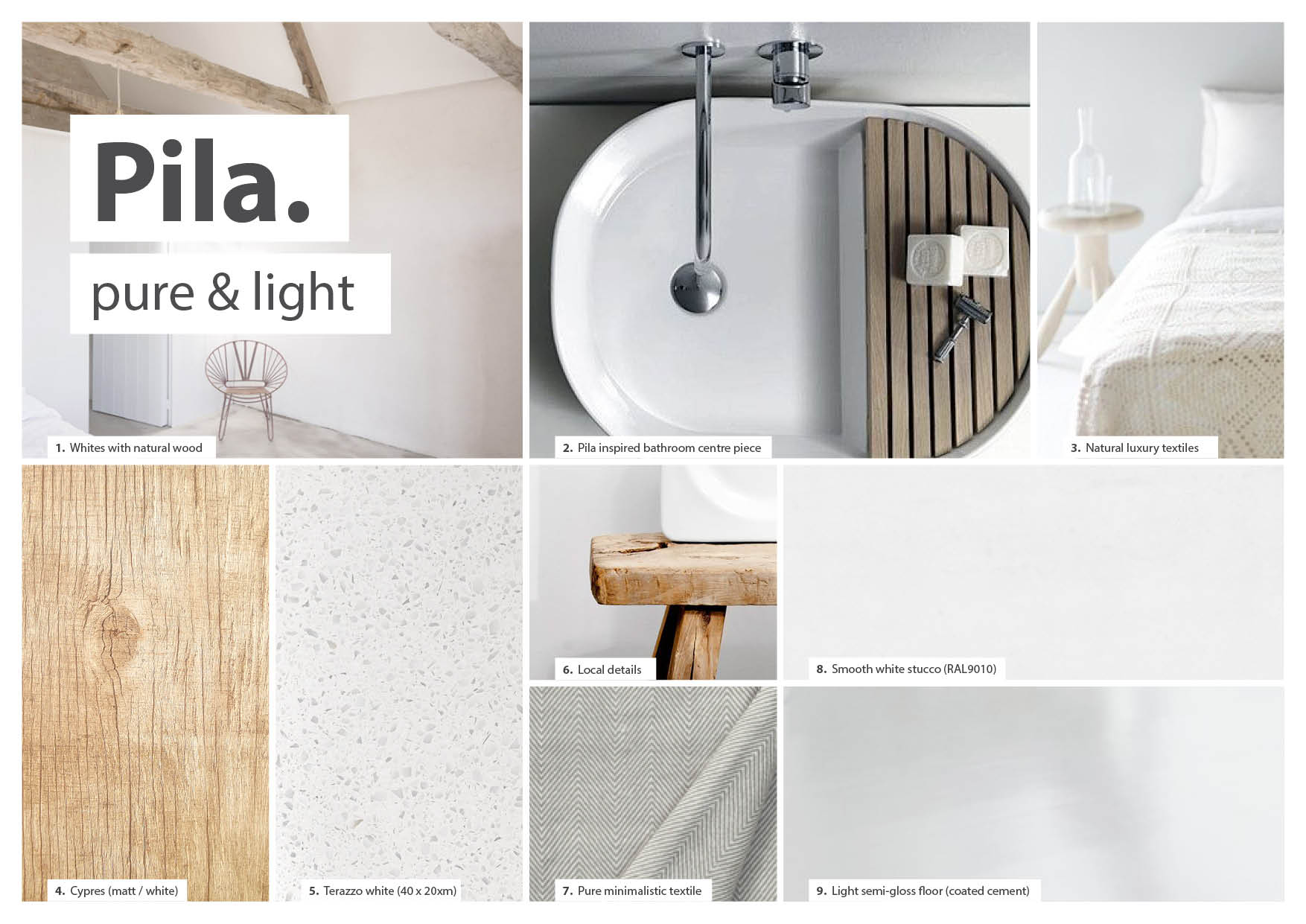 DNA  / Design DNA's made to find the right atmosphere for each room type featuring the PILA sink,private outdoor showers with views on the surrounding volcanos and a black metal spiral stair.