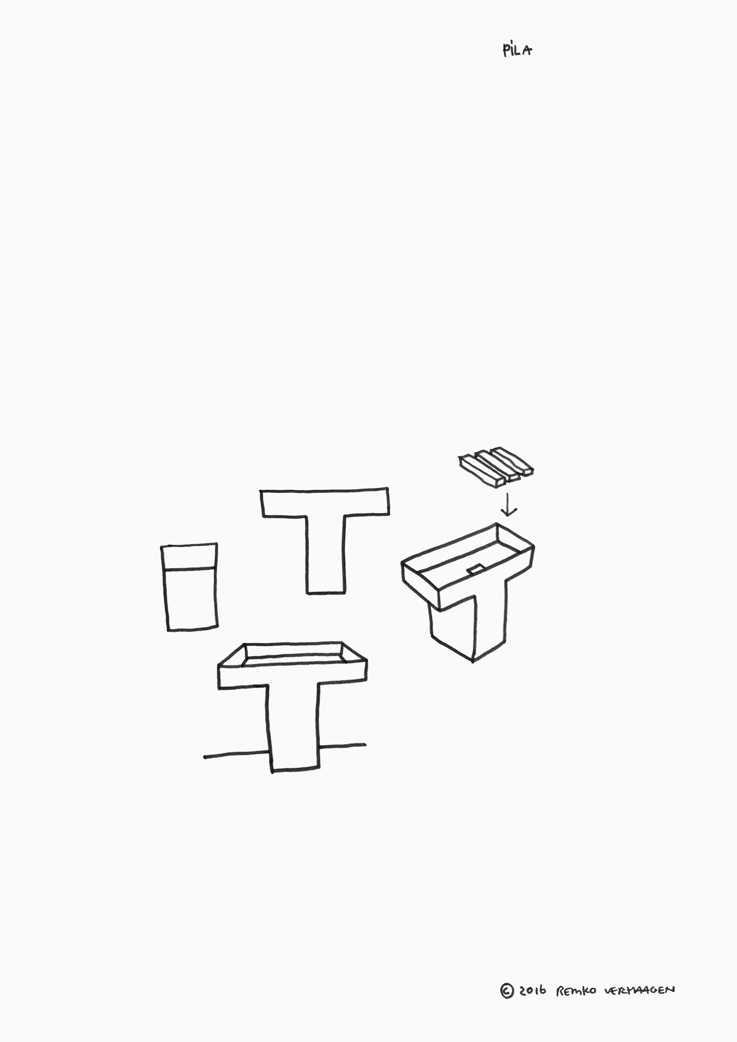 Sketch  / Pila ideation doodle.