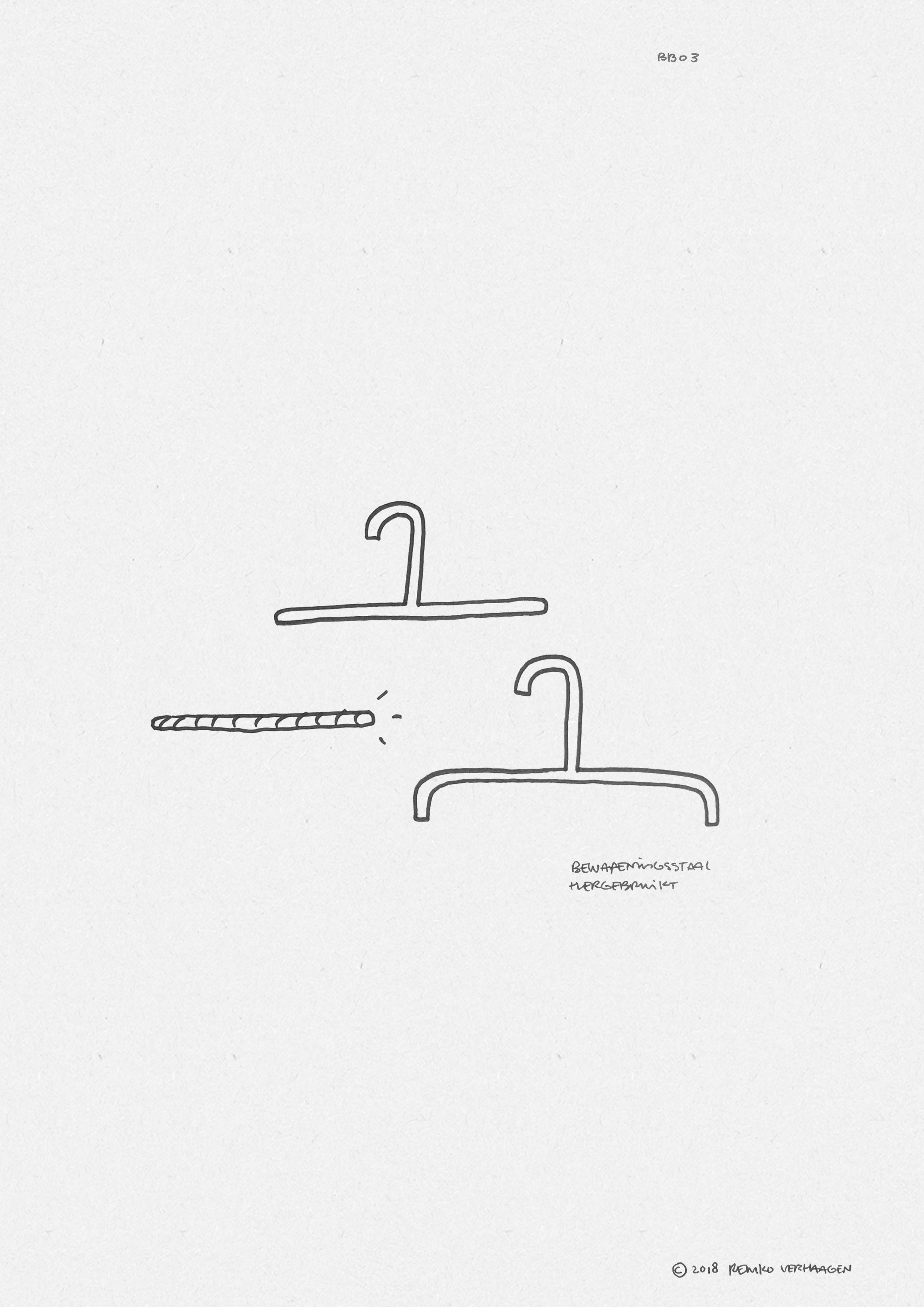 BB03 COAT HANGER  / Iconic coat hanger made from construction steel reclaimed from demolished bunkers.