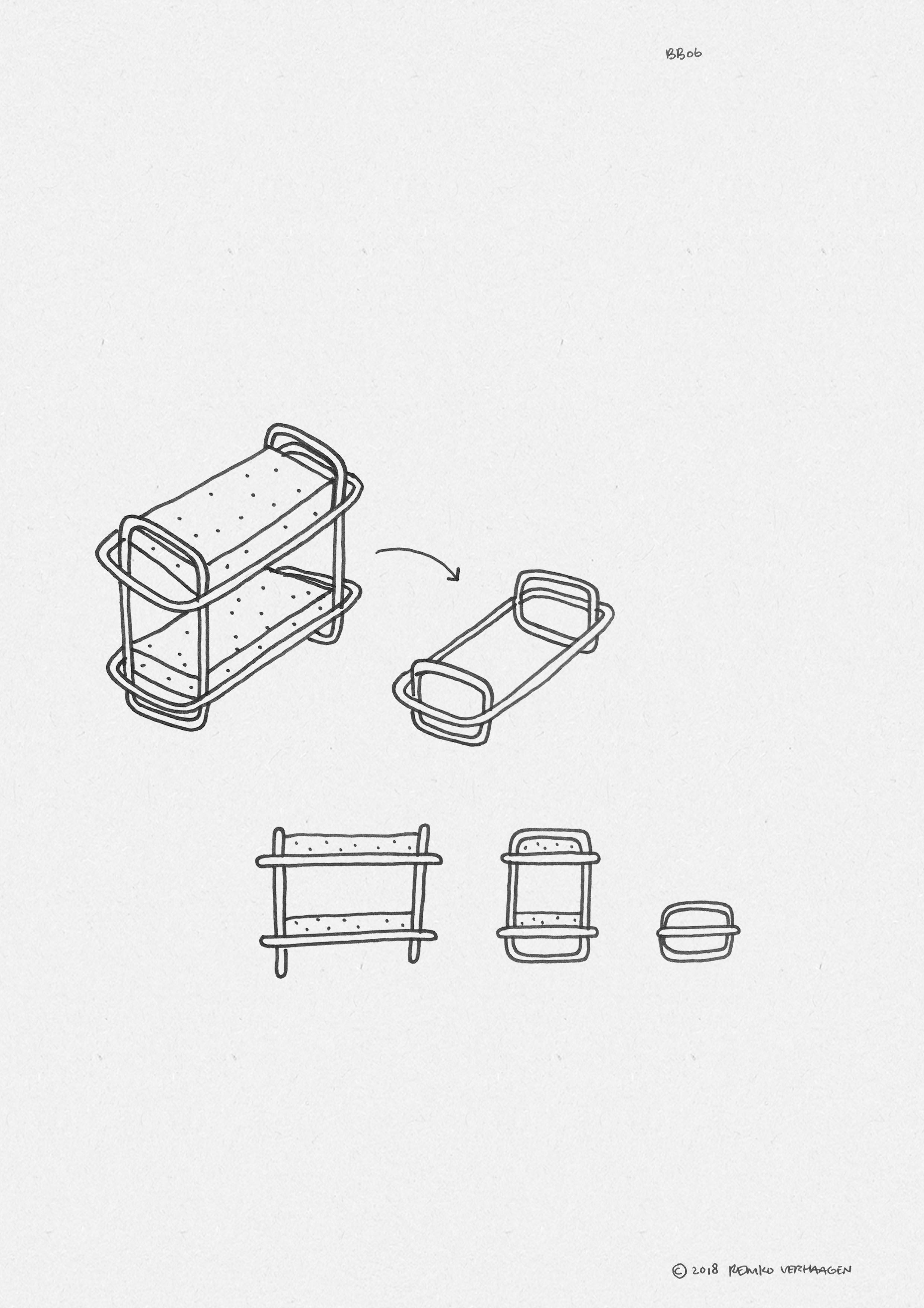 BB06 BUNK BED  / Modular signature design piece.