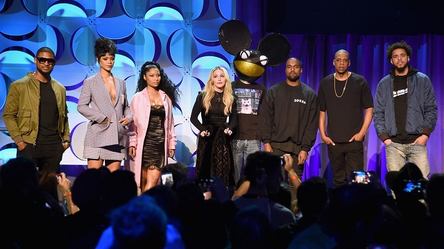 The star-studded Tidal launch. Image: Jamie McCarthy / Getty Images Entertainment.