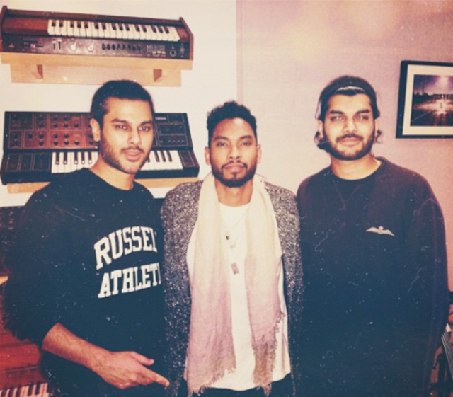 Paul's brother, Miguel, and Jai Paul. Image via Miguel on Instagram.