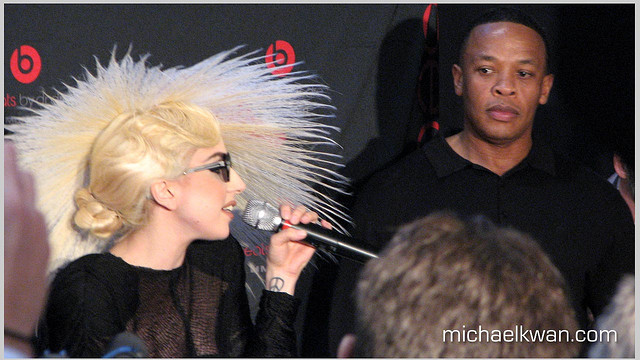 Lady Gaga and Dr. Dre. C.C. Image: Michael Kwan on Flickr.