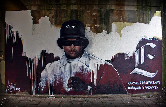 Graffiti portraying the late Eazy-E. C.C. Image: Christiaan Triebert on Flickr.