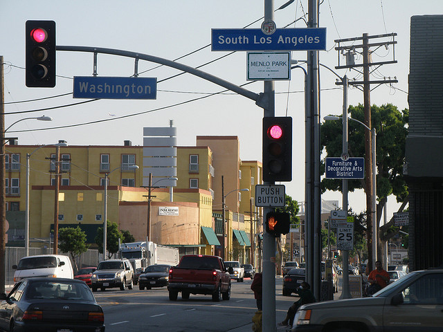 South Central Los Angeles. C.C. Image: Laurie Avocado on Flickr.