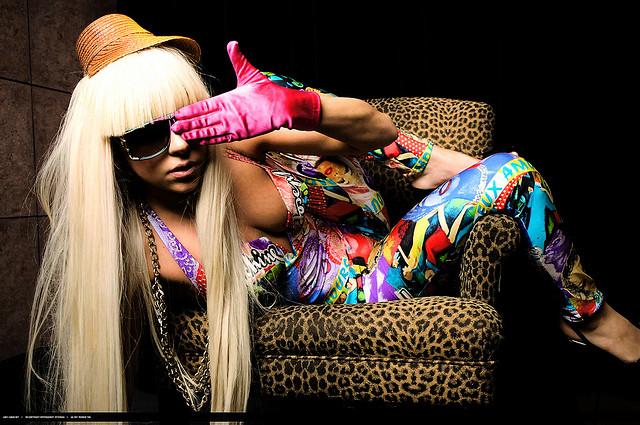 Lady Gaga, covering her left eye as always, a supposed Illuminati symbol. C.C. Image: Mark Holiday on Flickr.