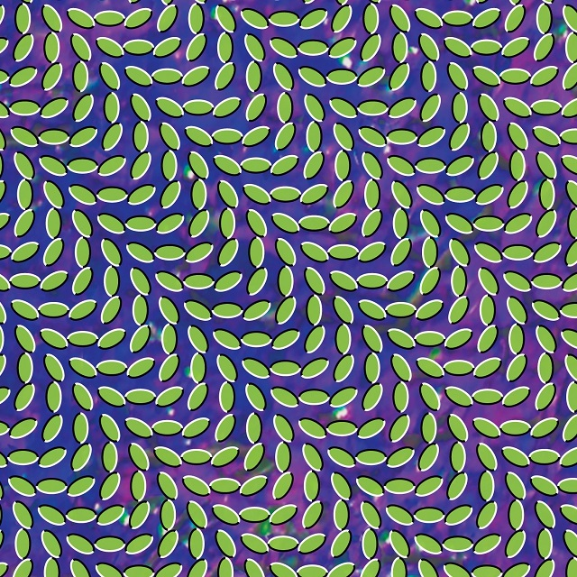 Animal Collective's  Merriweather Post Pavilion  (2009) cover, used on the grounds of fair use.