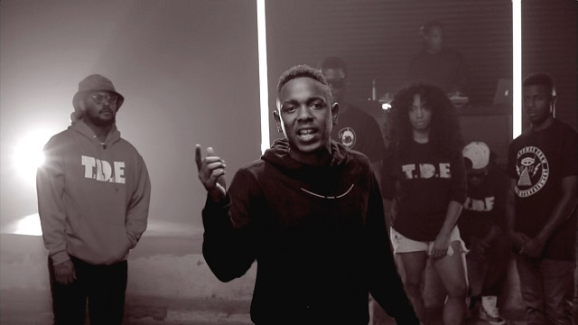 Image: Kendrick Lamar and T.D.E. in their 2013 BET Cypher, used on the grounds of fair use.
