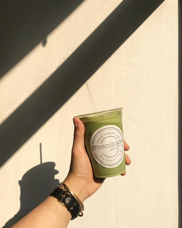 Iced. Rose. Matcha. Latte. 💚  Ceremonial-grade Matcha infused with Greek Rose Petals. Have with with Oat/Almond Milk 👌🏼