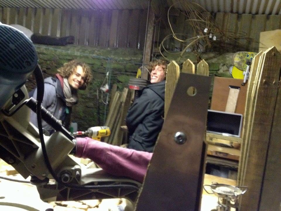 More amazing surfer souls, Will Holland and Charlie Burls making community housing projects for the Youth in Totnes with The Department of Housing: 'The Living Project'